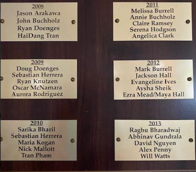 plague of Jefferson BOB winners 2009-2013